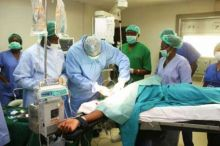 Patient undergoing surgery at  National Hospital [Photo Credit: News Express]