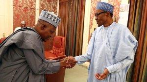 President Muhammadu Buhari and Borno State Governor, Kashim Shettima