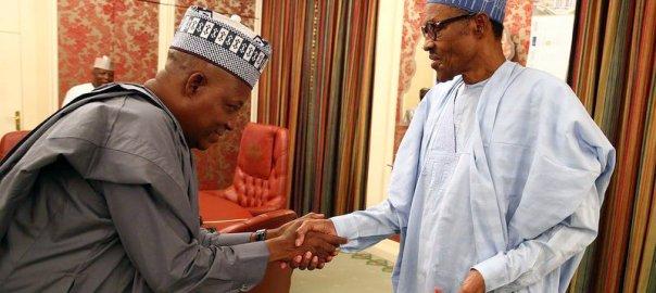 President Muhammadu Buhari and Ex-Borno State Governor, Kashim Shettima