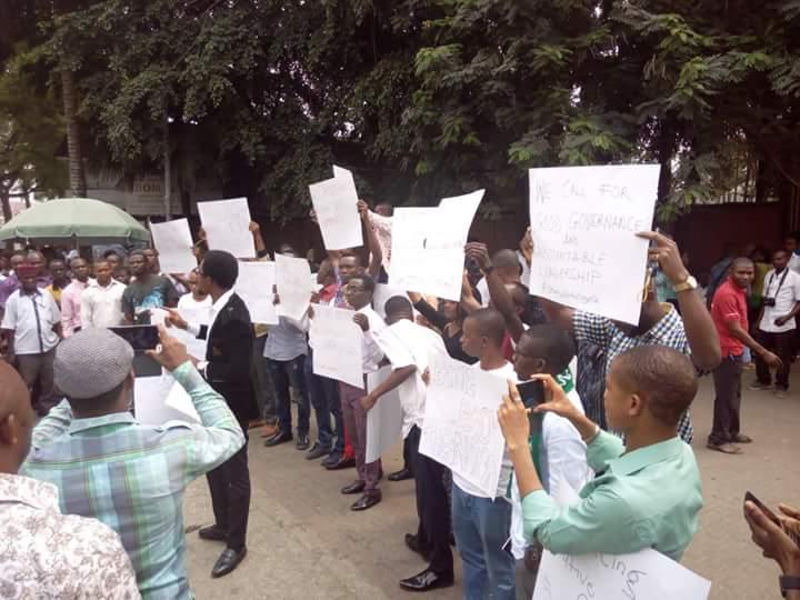 Protesters in Uyo, Akwa Ibom State