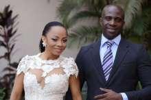 Toke Makinwa with estranged husband, Maje Ayida