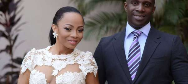 Toke Makinwa with estranged husband, Maje Ayida