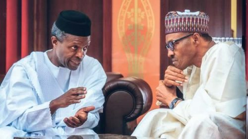 Image result for Buhari, Osinbajo –