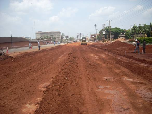 Road construction in Jos the Plateau State capital [Photo credit: Plateau News Online]