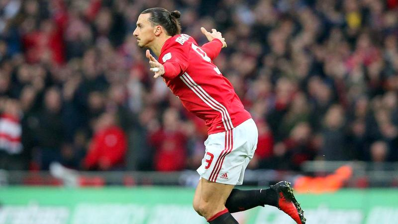 FILE PHOTO: Zlatan Ibrahimovic celebrates after scoring for United