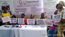 Women with disabilities in its press conference