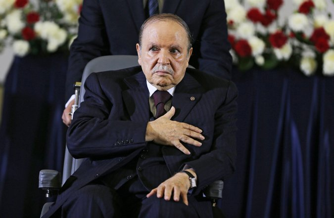 Algerians protest ailing president's bid for fifth term