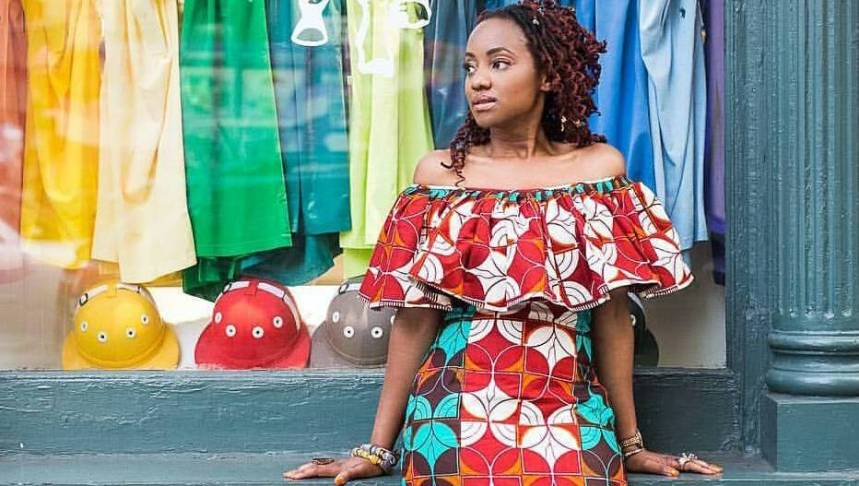 An Ankara cold shoulder dress is a must-have for every woman
