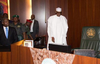 Buhari at NEC