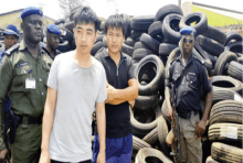 Chinese men arrested for Importing fake tyres