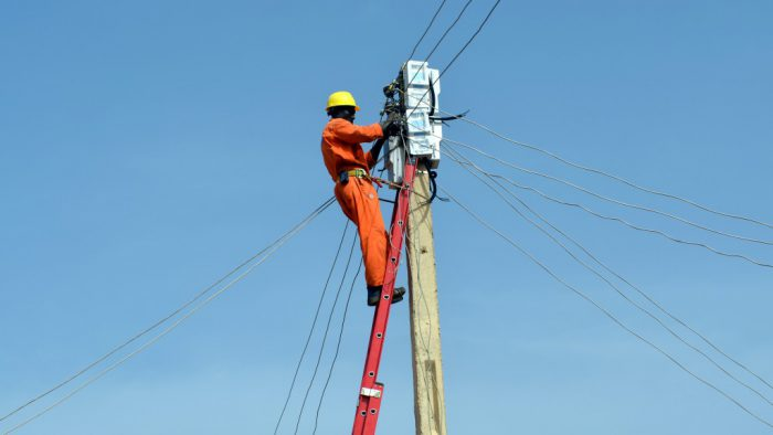 Meters on pole-mounted by JEDC