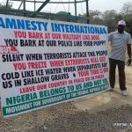 Protesters want Amnesty International to leave Nigeria