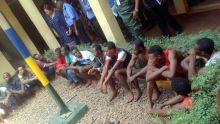 Suspects paraded by the Nigerian Police