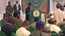 Acting President Osinbajo speaking at the opening of a two-day national dialogue on corruption organised by his office in conjunction with the Presidential Advisory Committee Against Corruption, PACAC, at the Banquet Hall of Aso Rock Presidential Villa on Thursday