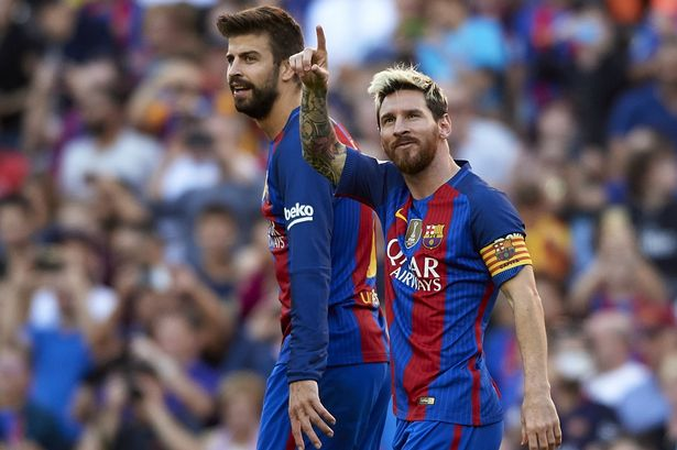 Pique and Messi [Photo: Mirror,co.uk]