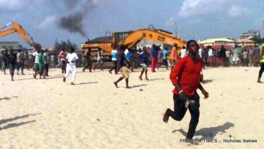 Demolition at Otodogbame (forced eviction)