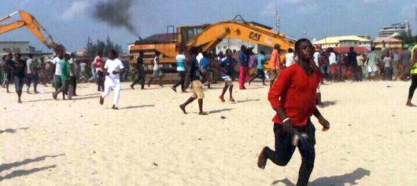 Fresh demolition at Otodo-Gbame