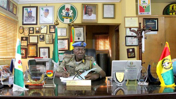 National Commandant of the Nigerian Peace Corps, Dickson Akoh