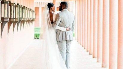 Agbani Darego and husband