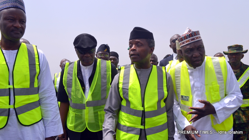 Inspection of Nnamdi Azikiwe International Airport, Abuja, by Vice President Yemi Osinbajo led by Federal Airport Authority of Nigeria (FAAN) Managing Director, Engr. Saleh Dunoma