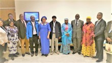 Dr. Hajo Sani SSAP and representative of Mrs. Aisha Buhari (4th from right) along with other delegates at the event.