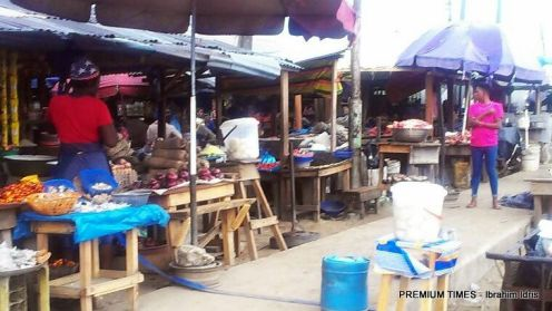 Stephanie Otobo mothers shop at Okirighwve, Sapele