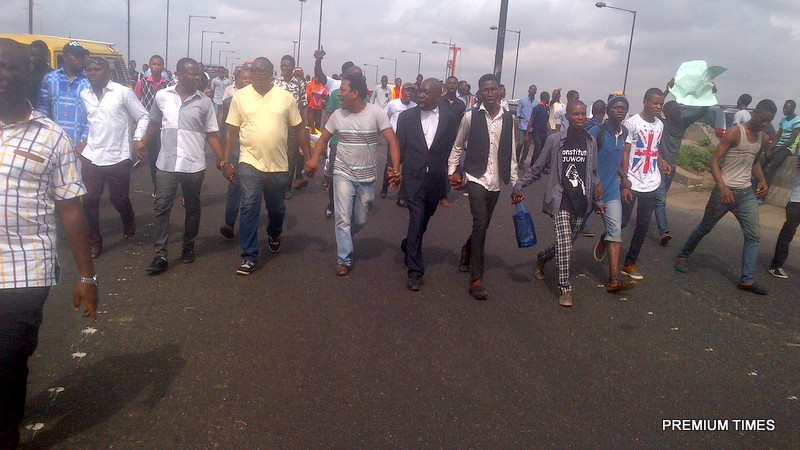File Photo of UNILAG students protest