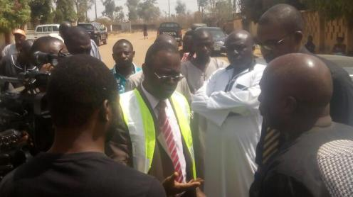 NEMSA Executives in Jos during the inspection process of the new smart prepaid meters