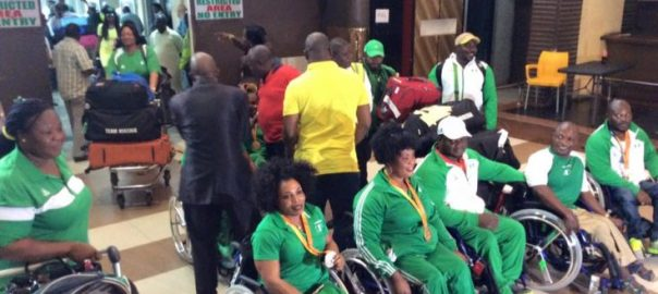 Nigeria's Paralympics athletes used to illustrate the story