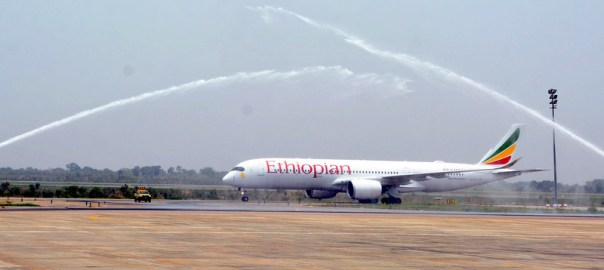 Image result for Abuja airport reopens as Ethiopian airline lands new plane