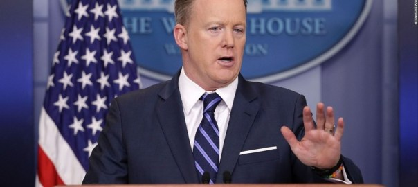 WhiteHouse Spokesperson, Sean Spicer [Photo Credit: CNN]