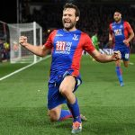 Yohan Cabaye celebrates scoring the second goal for Palace. Photograph: Mike Hewitt/Getty Images