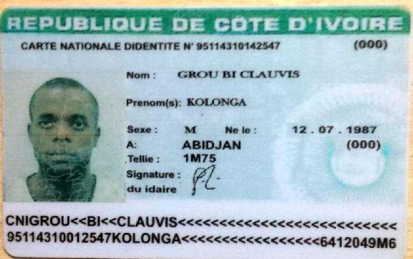 Cote D'lvoire ID card