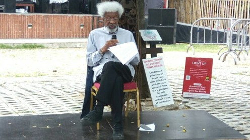 Wole Soyinka during the press briefing