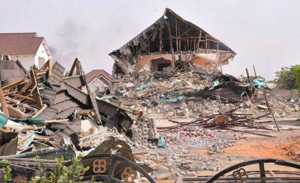 Inuwa Abdulkadir's demolished house