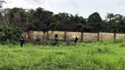 Police at the Lagos State Model College, Igbonla where students were kidnapped