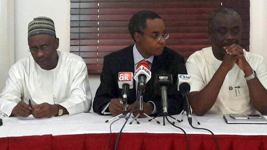 The Executive Secretary of NHIS, Dr Usman Yusuf, Director General of NACA Dr Sani Aliyu and Dr. Ipaye Tunde, Commissioner of Health Ogun State