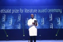 Jowhor Ile winner of Etisalat Literature Prize (Photo Credit: NAN)