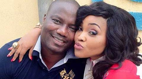Mercy Aigbe and estranged husband, Lanre Gentry