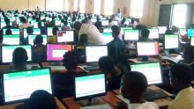 A cross-section of candidates writing JAMB Exams