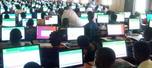 A cross-section of candidates writing the 2017 JAMB and UTME computer based examination at the Federal University Oye-Ekiti, Pro-metrics Centre, in Oye-Ekiti, Ekiti State on Saturday (13/5/17). 02637/13/5/2017/Idowu Gabriel/HB/NAN