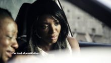 Slow Country's lead actress, Ivie Okujaiye in a scene in the movie
