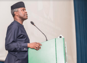 Mr. Osinbajo made the statement Thursday in Abuja at the colloquim on ``Biafra: 50 years after'' organized by the Yar' Adua Foundation at the Shehu Musa Yar' adua Centre, Abuja. [Photo: Vanguard Newspaper]