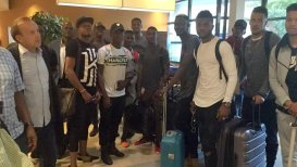 Image result for Super Eagles arrive in Abuja from France