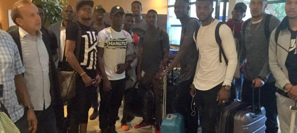 Super Eagles arrive Corsica for friendly match