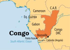 Congo on Map