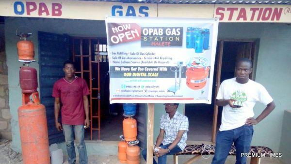 Mr. Abideen's gas office, Malete