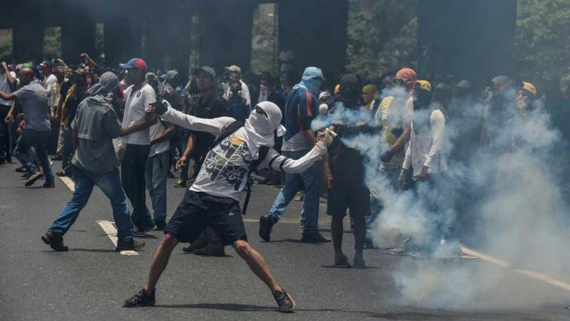 File photo of Venezuelan protests against government [Photo Credit: The Daily Star]