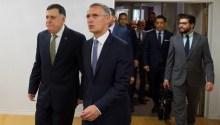 The Prime Minister of Libya, Fayez al-Sarraj and  NATO Secretary General Jens Stoltenberg [Photo: www.nato.int]