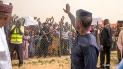Acting President Yemi Osinbajo, SAN, in Maiduguri today to kick off the special Relief Intervention Plan involving New Food Distribution Plan for IDPs in the North-East. 8th June 2017. Photo by NOVO ISIORO